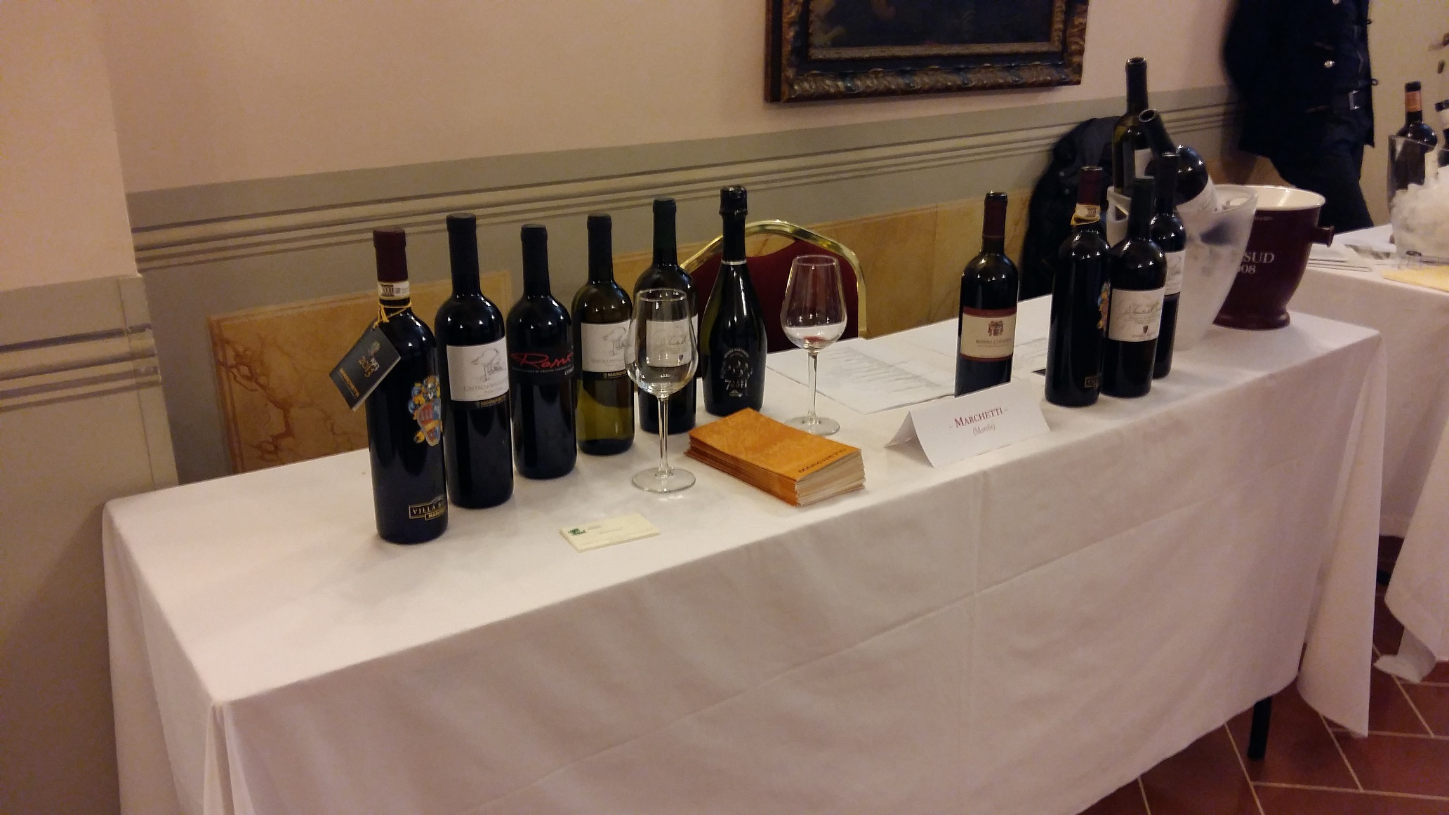 A careful selection of wines